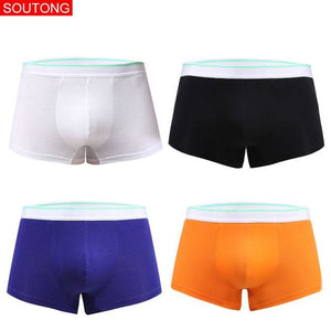 Soutong 4 Pcs/lot Men Underwear Boxers Shorts Cotton Men Boxers Solid Men Soft Underpants Underwear - MBMCITY