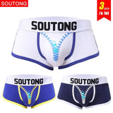 Soutong Male Underwear 3 Pcs/lot Cotton Men Underwear Boxers Cueca Calzoncillos Hombre Underpants.