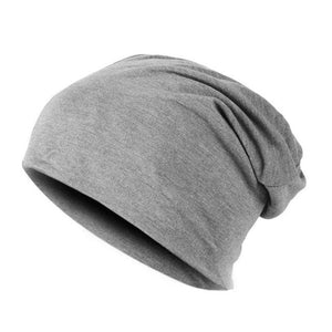 Spring Fashion Men Knitted Winter Cap Casual Beanies For Men Solid Color Hip-Hop Slouch Skullies Gray