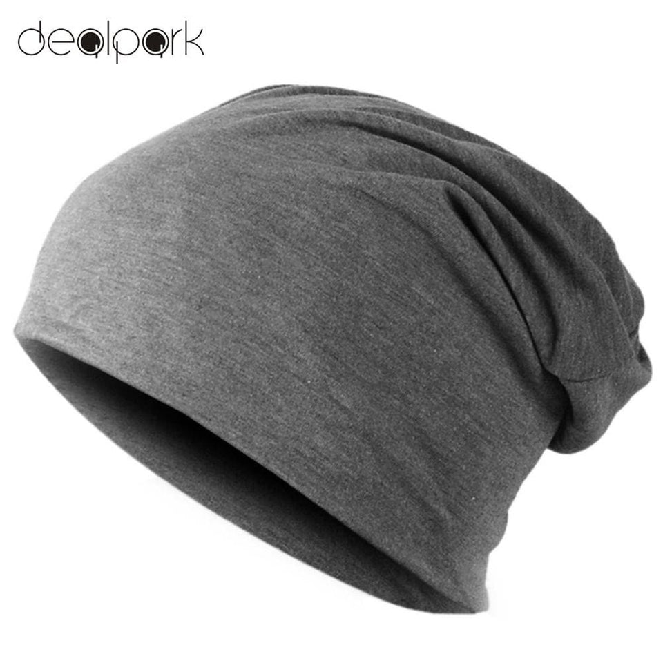 Spring Fashion Men Knitted Winter Cap Casual Beanies for Men Solid Color Hip-hop Slouch Skullies - MBMCITY