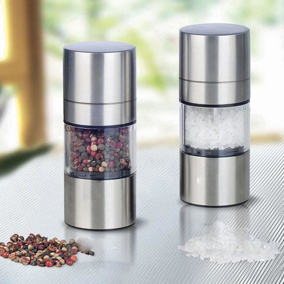 Stainless Steel Manual Salt Pepper Mill Grinder Portable Kitchen Mill Muller Home Kitchen Tool Spice - MBMCITY