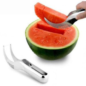 Stainless Steel Watermelon Melon Slicer Fruit Cutter Knife Fruit Divider Kitchen Fruit Tool - MBMCITY