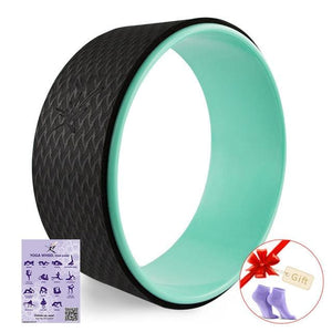 Starry Yoga Wheel Strongest & Most Comfortable Dharma Yoga Prop Wheel For Stretching and Improving Light Green