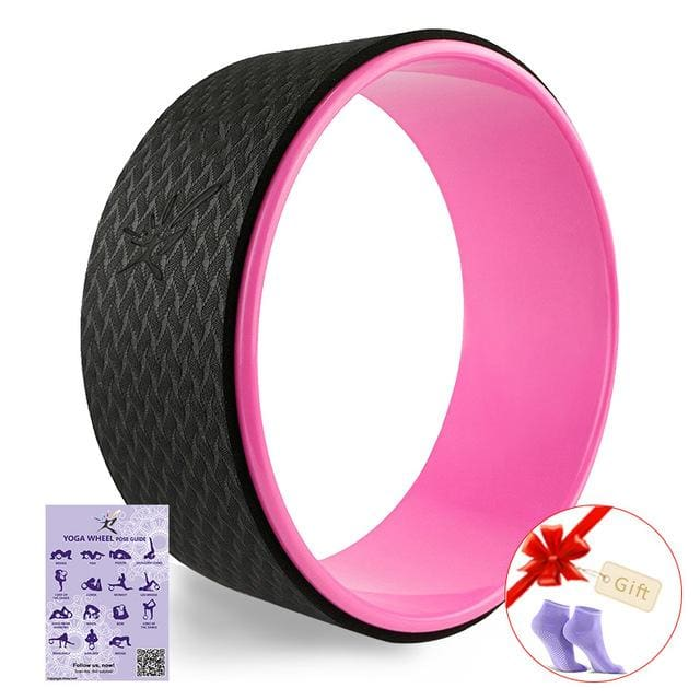 Starry Yoga Wheel Strongest & Most Comfortable Dharma Yoga Prop Wheel For Stretching and Improving Pink
