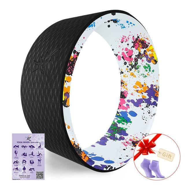 Starry Yoga Wheel Strongest & Most Comfortable Dharma Yoga Prop Wheel For Stretching and Improving Multi