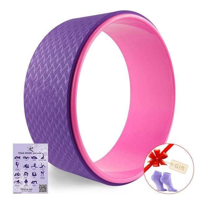 Starry Yoga Wheel Strongest & Most Comfortable Dharma Yoga Prop Wheel For Stretching and Improving Purple