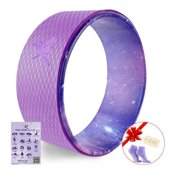 Starry Yoga Wheel Strongest & Most Comfortable Dharma Yoga Prop Wheel For Stretching and Improving Violet