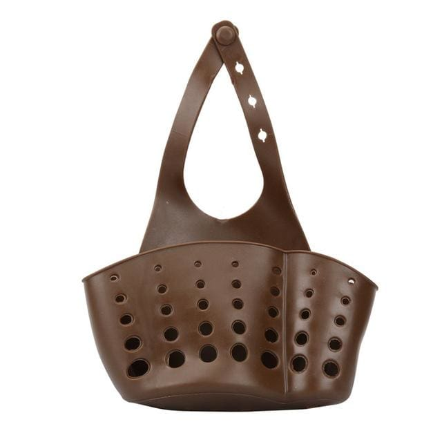 Storage Holder Racks 1 PC Portable Foldable Home Kitchen Hanging Drain Bag Basket Bath Storage Tools Chocolate / 12x22cm / 1-tier