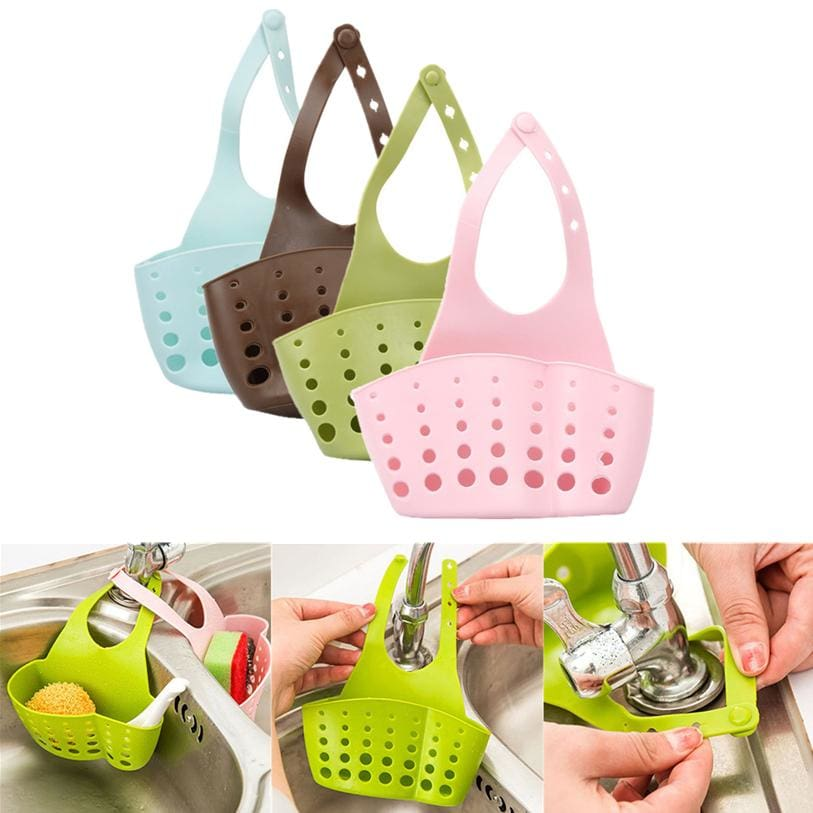 Storage Holder Racks 1 PC Portable Foldable Home Kitchen Hanging Drain Bag Basket Bath Storage Tools
