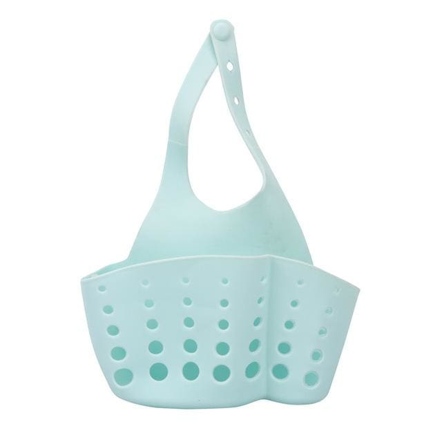 Storage Holder Racks 1 PC Portable Foldable Home Kitchen Hanging Drain Bag Basket Bath Storage Tools Blue / 12x22cm / 1-tier