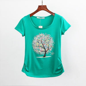 Summer Clothing Short-Sleeve T-Shirt Female Casual Shirts T Shirt Women Clothes Top Tee Harajuku