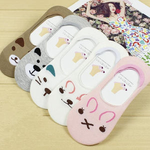 summer comfortable cotton bamboo fiber girl women's socks ankle low female invisible  color girl boy.