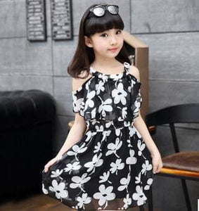 Summer Fashion Girls Dress 2017 New Printing O-Neck Children Clothes Casual Beautiful Girl Dresses - MBMCITY