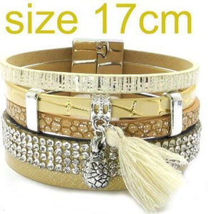 summer Leather bracelet 3 color 3 size charm bracelets for women Christmas gift wrap bangles