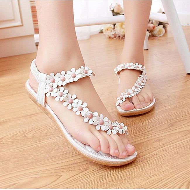 Summer Women Sandals 2016 Fashion Bohemia Women's Shoes Flower Sandalias Femininas Casual Thong - MBMCITY