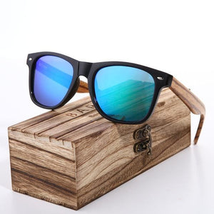 Sunglasses 2018 Polarized Zebra Wood Glasses Hand Made Vintage Wooden Frame Male Driving Sun Glasses - MBMCITY