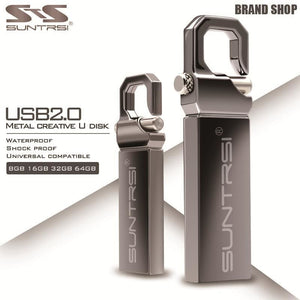 Suntrsi USB Flash Drive 64GB Metal Pendrive High Speed USB Stick 32GB Pen Drive Real Capacity 16GB