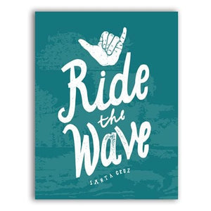 Surf Rider Lettering Poster Art Prints Wall Pictures Vintage Surfing Logotypes Canvas Painting A5 15X21 Cm No Frame / Style A