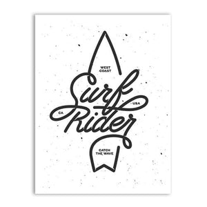 Surf Rider Lettering Poster Art Prints Wall Pictures Vintage Surfing Logotypes Canvas Painting A5 15X21 Cm No Frame / Style C