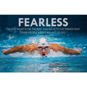 Swimming Sports Michael Phelps Poster Wall Art Silk Fabric Or Canvas Painting Wall Pictures For - MBMCITY