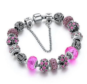 Szelam 2017 New Crystal Beads Bracelets Bangles Silver Plated Charm Bracelets For Women Friendship