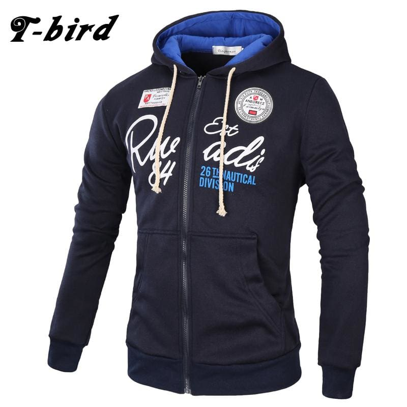 T-Bird Brand 2017 Hoodies Brand Men Letter Printing Sweatshirt Male Hoody Hip Hop Autumn Winter