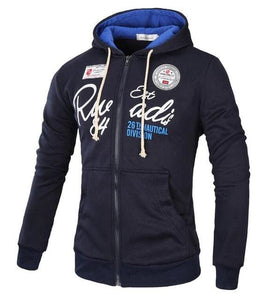 T-Bird Brand 2017 Hoodies Brand Men Letter Printing Sweatshirt Male Hoody Hip Hop Autumn Winter Navy / Xl