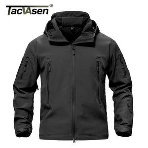 Tacvasen Army Camouflage Men Jacket Coat Military Tactical Jacket Winter Waterproof Soft Shell
