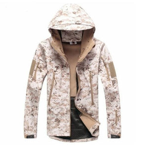 TACVASEN Army Camouflage Men Jacket Coat Military Tactical Jacket Winter Waterproof Soft Shell - MBMCITY