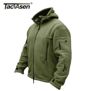Tacvasen Winter Military Fleece Jacket Warm Men Tactical Jacket Thermal Breathable Hooded Men