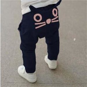 TANGUOANT Retail hot sale spring and autumn kids clothing boys girls harem pants cotton owl trousers - MBMCITY