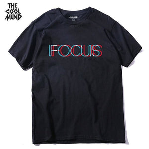 THE COOLMIND pure 100% cotton short sleeve fucus printed funny men Tshirt casual o-neck loose summer