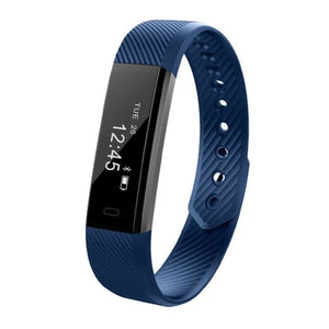 TK47 Smart Wristband Fitness Tracker Band Bluetooth Sleep Monitor Watch Sport Bracelet for ios Blue