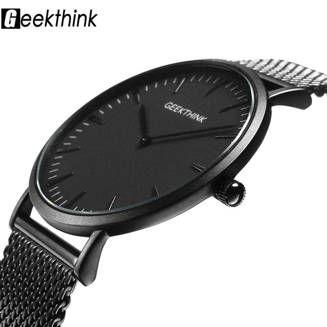 Luxury Quartz Watch men Casual Black Japan quartz-watch stainless steel - MBMCITY