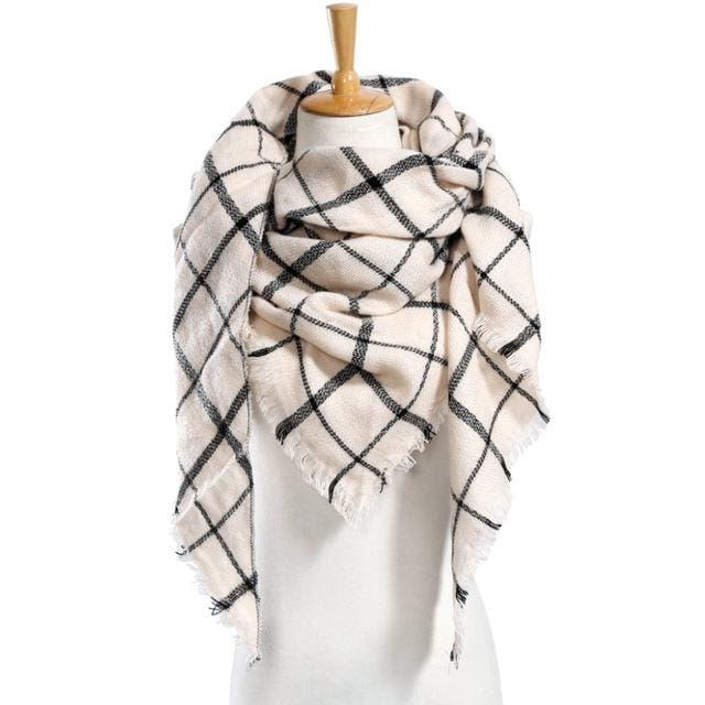Top quality Winter Scarf Plaid Scarf Designer Unisex Acrylic Basic Shawls Women's Scarves hot sale - MBMCITY