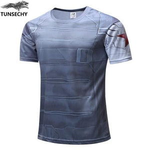 TUNSECHY 2017 Captain America T Shirt 3D Printed T-shirts Men Marvel Avengers iron man War Fitness