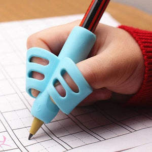 Two-Finger Grip Silicone Baby Learning Writing Tool Writing Pen Writing Correction Device Children Stationery Gift 3pcs