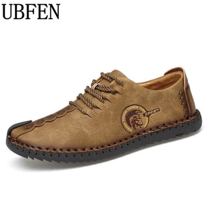 UBFEN 2017 Brand Fashion Comfortable Men Shoes Lace-up Solid Leather shoes For Men Causal Male Shoes