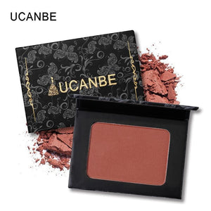 UCANBE Brand 5 Style Single Mineral Blush Makeup Palette Face Cheek Nude Natural Pressed Powder