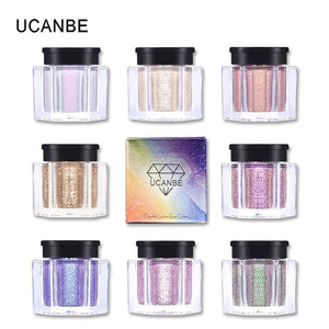 UCANBE Brand Crystal Luster Glitter Eyeshadow Powder Pigment Metallic Shiny Holographic Eye Toppers.