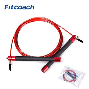 UIC-JR06 Professional Athletics Speed Jump Rope With Ball Bearing Metal Handle For Woman, Crossfit - MBMCITY