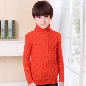 Uninice Infant Baby Sweater Winter Warm Children Sweater For Boys Girls Knitted Turtleneck Pullover Yellow / 3T