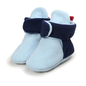Unisex-Baby Newborn Cozie Faux Fleece Bootie Winter Warm Infant Toddler Crib Shoes Classic Floor