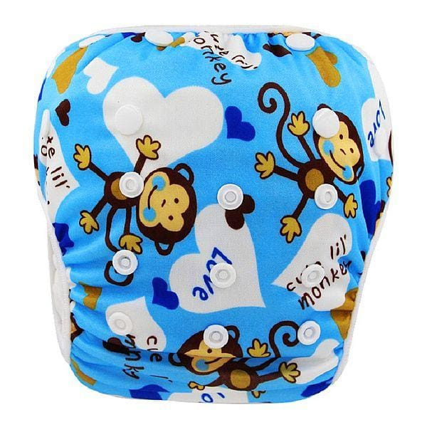 Unisex One Size Waterproof Adjustable Swim Diaper Pool Pant 10-40 Lbs Swim Diaper Baby Reusable Yk04 / One Size Adjustable
