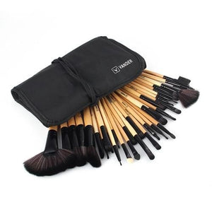 Vander 32Pcs Set Professional Makeup Brush Foundation Eye Shadows Lipsticks Powder Make Up Brushes Brown / United States