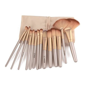 Vander 32Pcs Set Professional Makeup Brush Foundation Eye Shadows Lipsticks Powder Make Up Brushes Champagne / United States