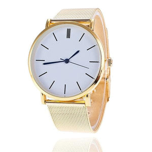 Vansvar Brand Fashion Silver Casual Quartz Watch Women Metal Stainless Steel Dress Watches Relogio