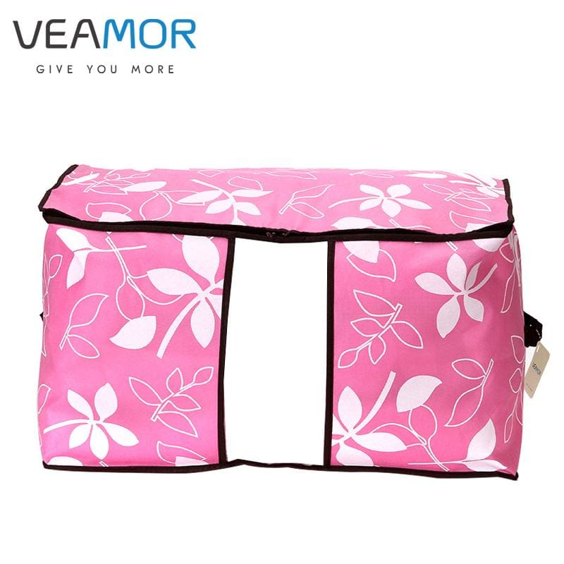 VEAMOR Flowers Printed Non-woven Quilts Storage Boxes for home Organization Plus Size Finishing - MBMCITY