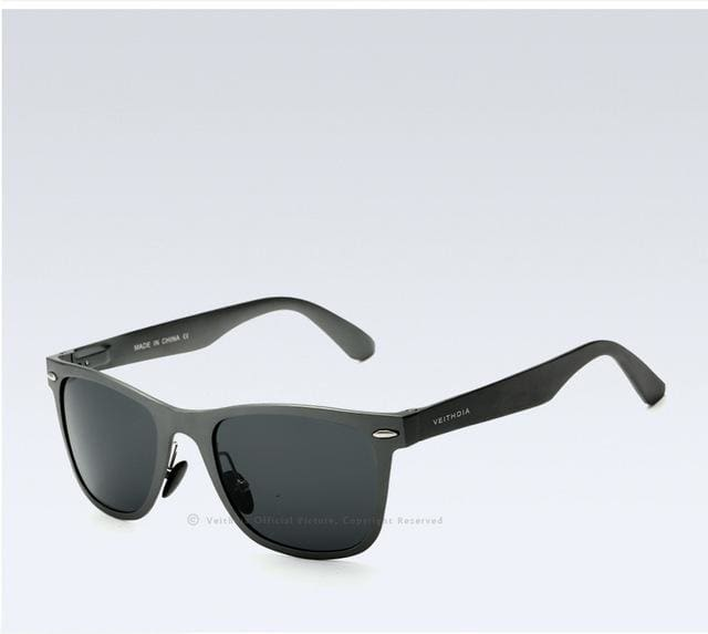 Veithdia Brand Unisex Aluminum Square Mens Polarized Mirror Sun Glasses Female Eyewears Accessories Gray Gray / China