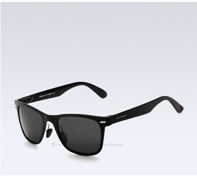 Veithdia Brand Unisex Aluminum Square Mens Polarized Mirror Sun Glasses Female Eyewears Accessories Black Gray / China